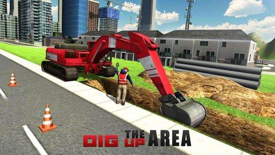 重型挖掘机模拟器截图2