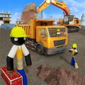 火柴人挖掘机模拟