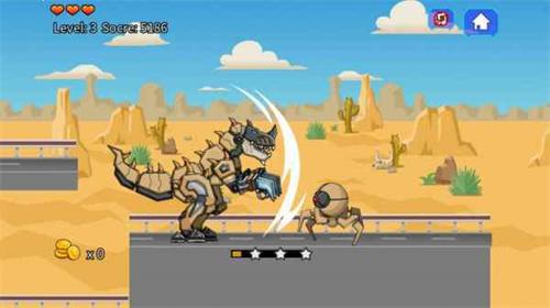 沙漠霸王龙大战截图1